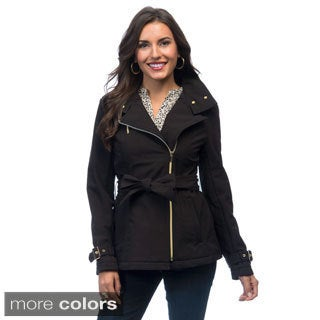 Kenneth Cole Asymmetrical Soft Shell Belted Jacket