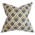 Sancia Geometric Black Brown Down Filled Throw Pillow