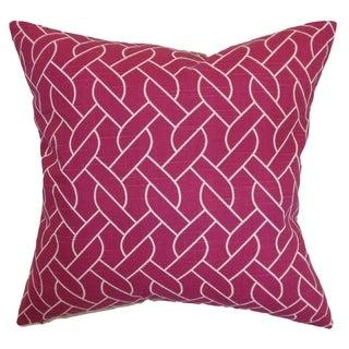 Neptune Azalea Geometric Down Filled Throw Pillow