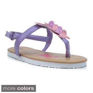 Blue Girls 'K-Wingfly' Butterfly T-strap Sandals