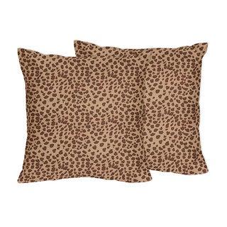 Sweet Jojo Designs Cheetah Animal Collection Throw Pillows (Set of 2)