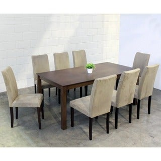 Warehouse of Tiffany 9-piece Light Brown Juno Table Dining Set