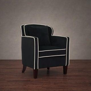 Broadway Black/ Cream Velvet Arm Chair