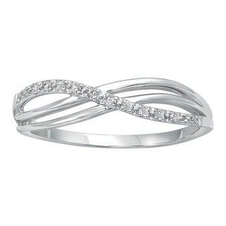 Beverly Hills Charm 10k White Gold Crossover Diamond Accent Ring (H-I, I2-I3)