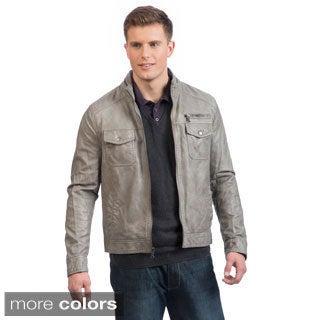 Kenneth Cole Vegan Leather Hipster Jacket