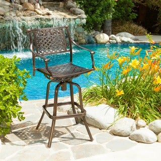 Christopher Knight Home Sebastian Cast Aluminum Barstool
