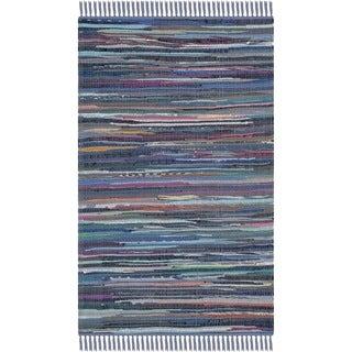 Safavieh Hand-woven Rag Rug Purple Cotton Rug (3' x 5')