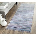 Safavieh Hand-woven Rag Rug Purple Cotton Rug (2'6 x 4')