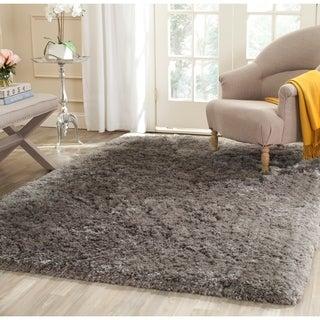Safavieh Handmade Shag Grey Polyester Rug (8'6 x 12')