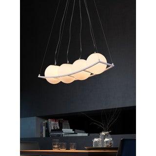Breeze 4-light White Modern Ceiling Lamp