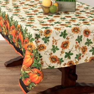 Thanksgiving Harvest Textured Tablecloth