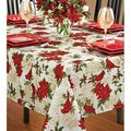 Holiday Cardinal Textured Tablecloth