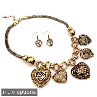 Victorian Queen of Hearts Necklace and Earring Set