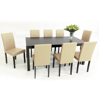 Warehouse of Tiffany's 9-piece Cream Tafline with Juno Table Dining Set