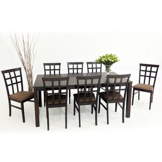 Warehouse of Tiffany 9-piece Light Cappuccino Justin with Juno Dining Furniture Set