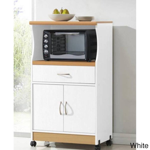 Small Rolling Microwave Kitchen Cart