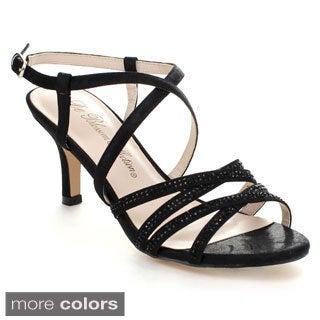 Blossom Vero-7 Women's Glitter Criss Cross Sling Back Heel