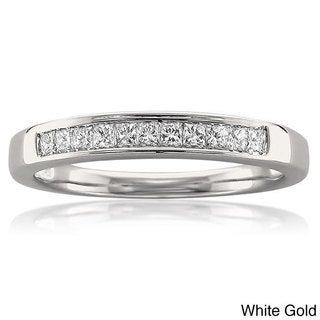 14k White or Yellow Gold 1/4ct TDW Princess Cut Channel-set Wedding Band (I-J, VS2)