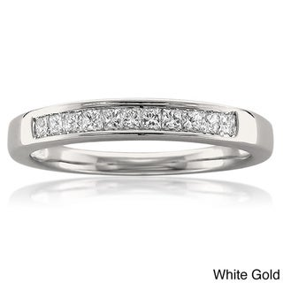 14k White or Yellow Gold 1/4ct TDW Princess Cut Channel-set Wedding Band (I-J, VS2)