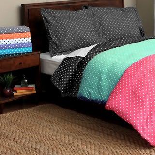 Luxor Treasures Ella Polka Dot 600 Thread Count 3-piece Duvet Cover Set