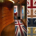 Hand-tufted Union Jack Novelty Runner Rug (2'6 x 8')