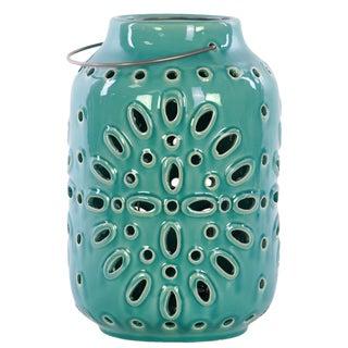Ceramic Lantern Turquoise
