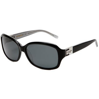 Kate Spade Women's 'Annika JBHP' Black/ Silver Sparkles Polarized Sunglasses