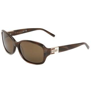 Kate Spade Womens 'Annika 1Q8P' Brown Horn Polarized Sunglasses