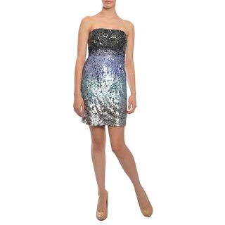 Alice + Olivia Women's Multicolored Stretch Fit Sequined Cocktail Dress