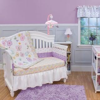 Nurture Imagination Butterfly Garden 3-piece Crib Bedding Set