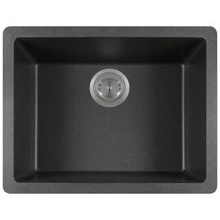 Polaris Sinks P808 Black AstraGranite Single Bowl Kitchen Sink