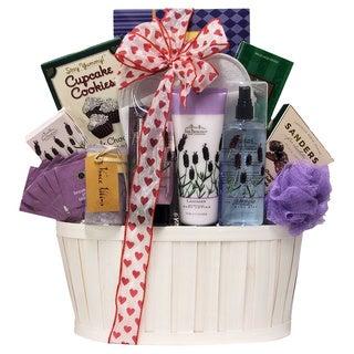 Lavender Spa Pleasures Bath and Body Spa Gift Basket