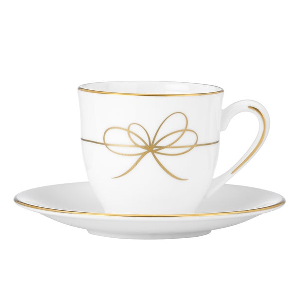 Gold Bow Espresso Cup and Saucer
