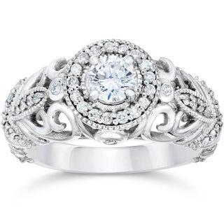 Bliss 14k White Gold 3/4ct TDW Vintage Diamond Ring (I-J, I1-I2)