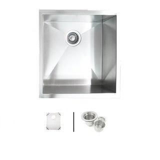 """19"""" Undermount Zero Radius Stainless Steel Kitchen Bar / Island Sink Combo"""