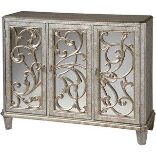 Leslie Antique Silvertone Three-door Cabinet