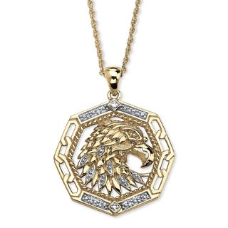 PalmBeach 10k Yellow Gold Diamond Accent Eagle Pendant (H-I, I2-I3) Men's