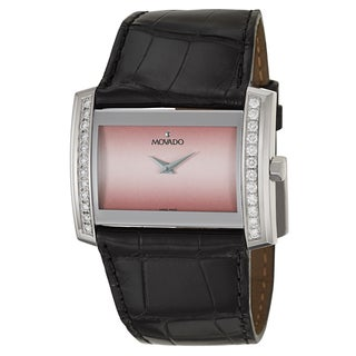Movado Women's 'Eliro' Diamond Swiss Quartz Pink Watch