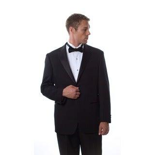 Bolzano Uomo Collezione Men's Big & Tall Black 2-button Tuxedo Suit