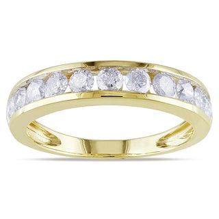 Miadora 10k Yellow Gold 1ct TDW Diamond Anniversary Ring (H-I, I2-I3)