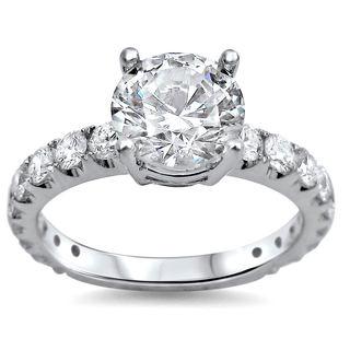 Noori 18k White Gold 1 4/5ct TDW Round Clarity-enhanced Diamond Engagement Ring (G-H, SI1-SI2)