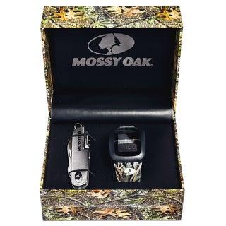 Mossy Oak Men's Official Camo Infinity Digital Watch with Knife Set