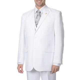 Falcone Men's White Vested 3-piece Suit