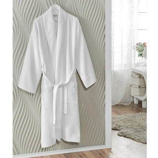 Salbakos Spa White Turkish Cotton Bath Robe