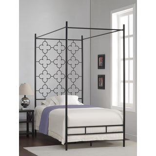 Quatrefoil Twin Canopy Bed