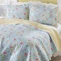 Laura Ashley Crofton Reversible Cotton 3-piece Quilt Set