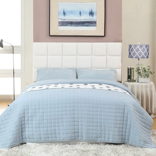 Furniture of America Sherolle Flannelette Upholstered Tufted Headboard