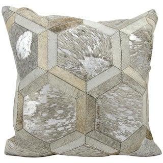 "Michael Amini Throw Pillow Grey/Silver 20"" x 20"" by Nourison"