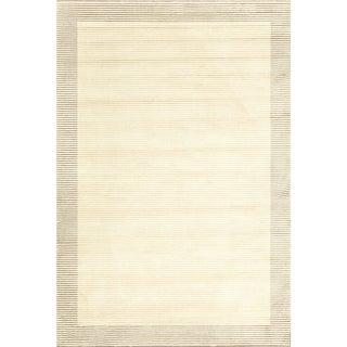 Settat Cream Bordered Wool Area Rug (7'10x11')