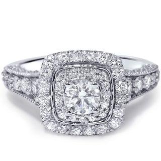 14k White Gold 1 1/2ct TDW Vintage Diamond Ring (H-I, I1-I2)